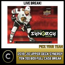 2019-20 UPPER DECK SYNERGY Hockey 10 Caja Completo Funda romper #H939 - Elige Tu Equipo