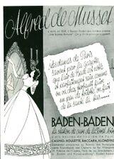 Publicité ancienne la station de cure Baden-Baden  1938 issue magazine