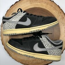 2006 Nike SB DUNK LOW CL AIR JORDAN III 3 BLACK CEMENT GREY 304714-905 Size 9.5