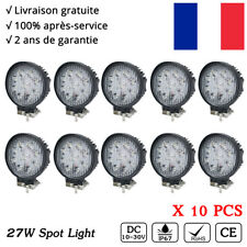 10x 27W Rond phare de travail LED Lumière Work Light 4X4 Offroad SUV ATV 12V 24V
