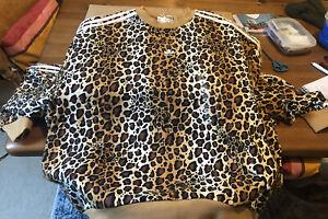 Adidas Leopard Jumper - M (size 14). NWT / Unworn