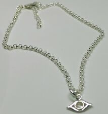Sterling Silver Evil Eye Moonstone Charm Anklet Talisman Protection Anklet