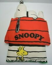 Snoopy Woodstock Peanuts Dog house pillow cushion Vintage 1958 1965