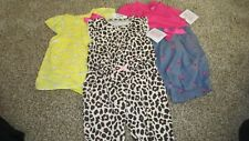 Nwt Carter's Girls 3M Set Of 3 Outfits Ladybugs, Elephants and Animal Print