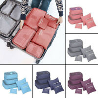 6Pcs/set Waterproof Travel Clothes Storage Bags Luggage Organizer Packing Pouch