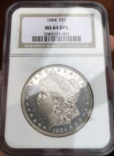 1884 P Morgan Silver Dollar Morgan Silver Dollar NGC MS64DPL DMPL Deep Mirror PL