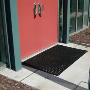 "Black Rubber Floor Mat 36"" X 60"" Anti-Fatigue Restaurant Bar Non-Slip Industrial"