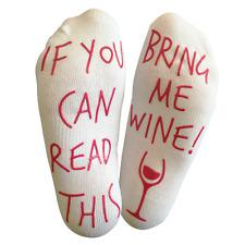 """Wine Socks """"...BRING ME WINE"""" funny wine prosecco lover ankle socks"""