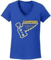 V-NECK Ladies St. Louis Blues Stanley Cup 2019 Champions Champs Shirt