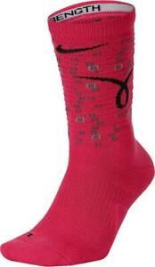 NEW Nike Mens Elite Kay Yow Basketball Socks Breast Cancer Pink Ribbon Size 8-12