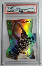 1997 Ultra Ultrabilities Superstar Die-Cut Michael Jordan #1 PSA 8 NM-MT