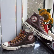 Brown CONVERSE ALL STAR GUSSET tonggue 125657C. TG UK 7