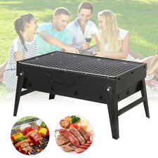 Outdoor Portable Charcoal Barbecue BBQ Grill Stove Foldable Panic Camping Oven