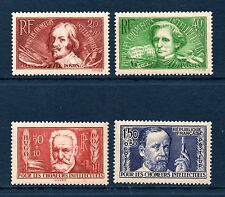 SERIE TIMBRES N° 330-333 NEUF ** GOMME ORIGINALE TTB - CHOMEURS INTELLECTUELS