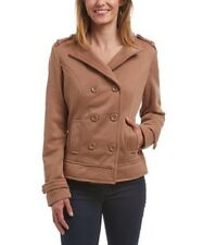 Peacoat Size 8 Jacket Camel Brown Collared Coat With Pockets