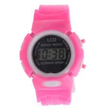 Cool Kids Girl Boy LED Light Wrist Watch Alarm Date Digital Electronic Sport