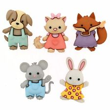 JESSE JAMES BUTTONS ~ DRESS IT UP - FOREVER FRIENDS 9322 ~ Baby Animals Sew