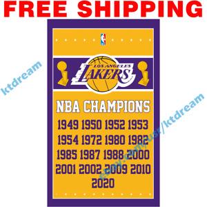 Los Angeles Lakers Champions Championship NBA Finals 2020 Memorable Flag 3x5 ft