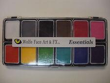 Wolfe Face Art 12 Color Essential Palette Hydrocolor Professional Face Paint