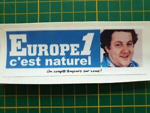 Sticker autocollant Europe 1 Coluche petit