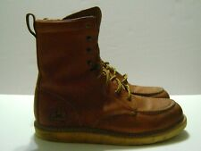 John Deere Lace Up Ankle Boots ANSI Z41 PT91 Leather Protective Toe Mens Sz 10 M
