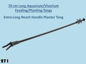 70cm Extra Long large Aquarium / Vivarium Pet Reptile Feeding /Planter Tongs 258