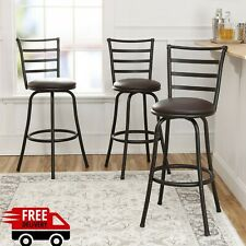 Swivel Bar Stools Adjustable Counter Height Kitchen Dining Chair Bronze Set of 3