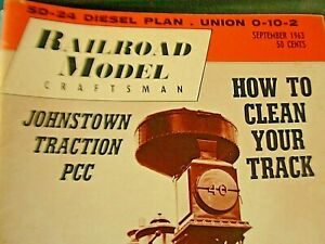 Railroader  Model  Magazine September 1963 Clean your track and more