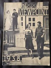College View Nebraska High School The Viewpoint 1938 Year Book Lancaster