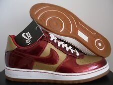 NIKE AIR FORCE AF1 DOWNTOWN LTH QS IRON MAN GOLD-VAR RED SZ 11 [573979-700]