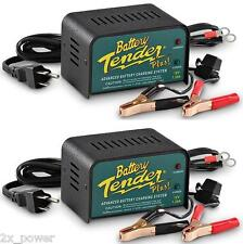 2 PACK - Battery Tender Plus 021-0128 12 Volt 1.25 Amp Battery Charger - 2x