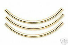 Tube Beads Gold Curved Spacer 38mm 1-1/2 inch Jewelry Finding Lot of 20