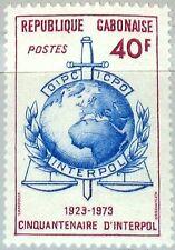 GABON GABUN 1973 509 317 50th Ann INTERPOL Intl Criminal Police Organization MNH