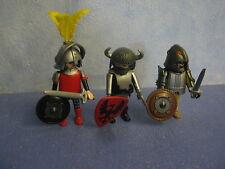 3 x verschiedene Ritter Figuren mit Waffen zu 4865 6000 Ritterburg Playmobil 101