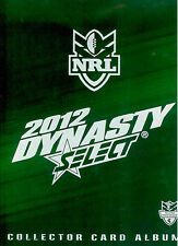 OFFICIAL NRL TRADING CARD ALBUM--2012 SELECT NRL DYNASTY ALBUM