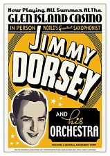 Big Band: Jimmy Dorsey at Glen Island Casino Concert Poster 17x24
