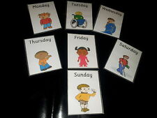 MULTICULTURAL DAYS OF THE WEEK - 7 FLASH CARDS -  OFSTED / EYFS/ KS1- PRE-SCHOOL