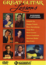 Great Guitar Lessons Bluegrass Flatpicking Learn to Play Country Music DVD
