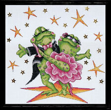 Design Works Cross Stitch Kit - Dancing Frogs