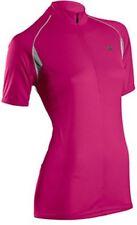 SUGOI Neo Jersey Womens Medium Pink Cycling Shirt Mountain Bike Top Zip