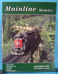 HO,S,N,O MAINLINE MODELER MAGAZINE SEPTEMBER 1992 TABLE OF CONTENTS PICTURED