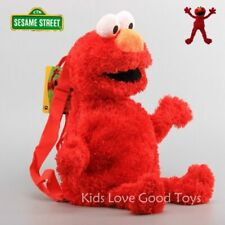 Sesame Street Elmo Backpack Baby Kids Toddler Stuffed Animal Toy Plush 3-D Bag
