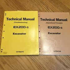 Hitachi EX200-5 TECHNICAL SERVICE MANUAL EXCAVATOR TROUBLESHOOTING REPAIR GUIDE