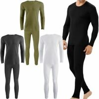 Mens Thermal Long Johns Full Set Warm Underwear Base layer,S M L XL XXL-Charcoal