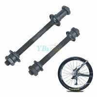 1 Pair Bike Bicycle MTB Steel Front and Back Axle Hollow Hub Portable Cycling DD