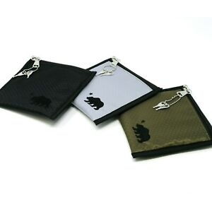 """Cali Crusher 6""""x6"""" Smell Proof Herb Storage Stash Pouch w/ Lock - Choose Color"""