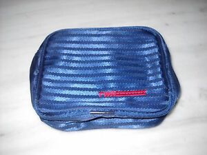 Vintage TWA Trans World Airlines Travel Amenity Toiletry Bag Case Blue #2
