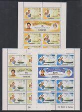 Kiribati - 1981, Royal Wedding sheets x 3 - MNH - SG 149/54