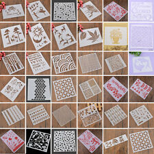 Layering Stencils Spray Template DIY Wall Drawing Scrapbooking Paper Card Decor