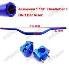 Blue Fat Handlebar 1 1/8'' Taper Risers Clamp Dirt Pit Bike ATV Quad Motocross